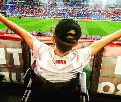 Luca allo Stadio Olimpico di Roma