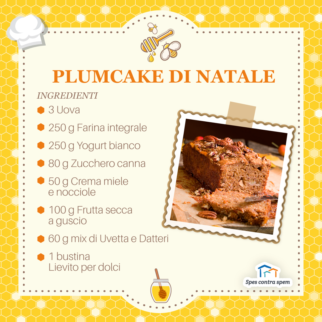 ricetta plumcake di Natale