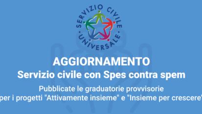 Spes contra spem - Servizio Civile Universale - Banner_graduatorie