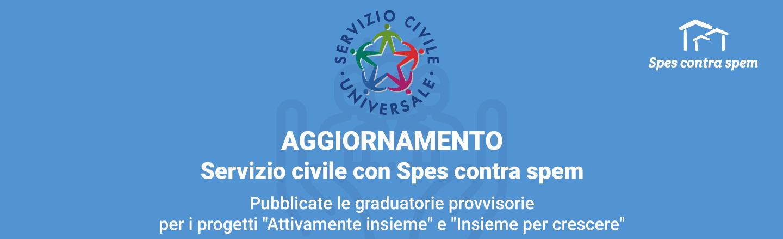 Spes contra spem - Servizio Civile Universale - Banner_graduatorie-CUT